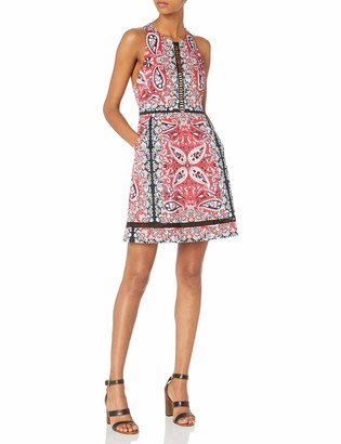 Nanette Lepore Women's Overboard Dress red/Multi 8