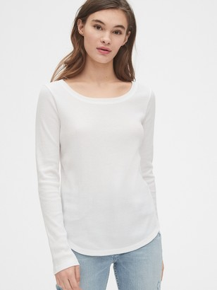 Gap Waffle Scoopneck T-Shirt
