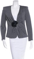 Armani Collezioni Fitted Houndstooth Blazer w/ Tags