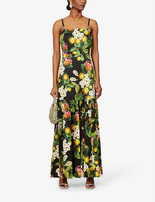 Borgo de Nor Summer citrus-print cotton maxi dress