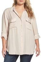 Tart Plus Size Women's Carol Roll-Sleeve Blouse