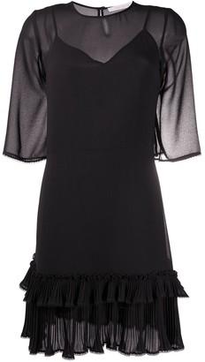 See by Chloe Sheer Ruffle-Trim Dress