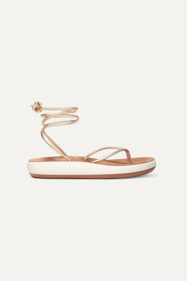 Ancient Greek Sandals Piera Metallic Leather Sandals - Gold