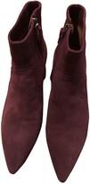 Isabel Marant Derst Burgundy Suede Ankle boots