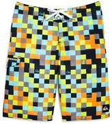 Quiksilver Boys' Logo Check Boardshorts - Sizes 24-30