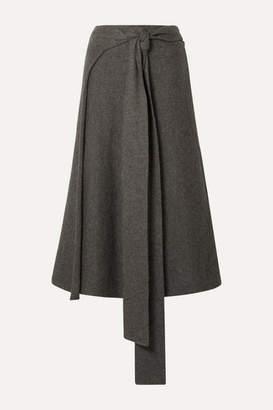 LAUREN MANOOGIAN Alpaca-blend Wrap Skirt - Brown