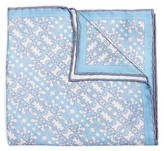 hook + ALBERT Men's Batik Patterned Silk Pocket Square
