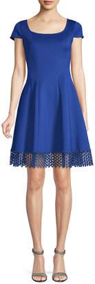 Donna Ricco Embroidery Flare Dress