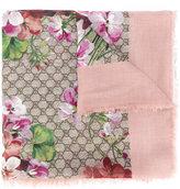 Gucci Blooms print shawl - women - Silk/Modal - One Size