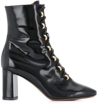 L'Autre Chose patent lace-up boots