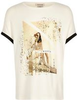 River Island Girls cream print t-shirt
