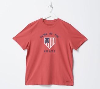 Life is Good Men's Americana Short Sleeve Crusher Tee