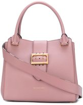 Burberry buckle detail tote bag - women - Cotton/Calf Leather/Polyamide - One Size
