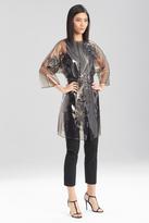 Josie Natori Transparent Floral Raincoat
