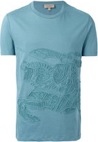 Burberry embroidered T-shirt - men - Cotton - XS