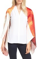 Ted Baker Women's Pamm Playful Poppy Silk Cape Scarf