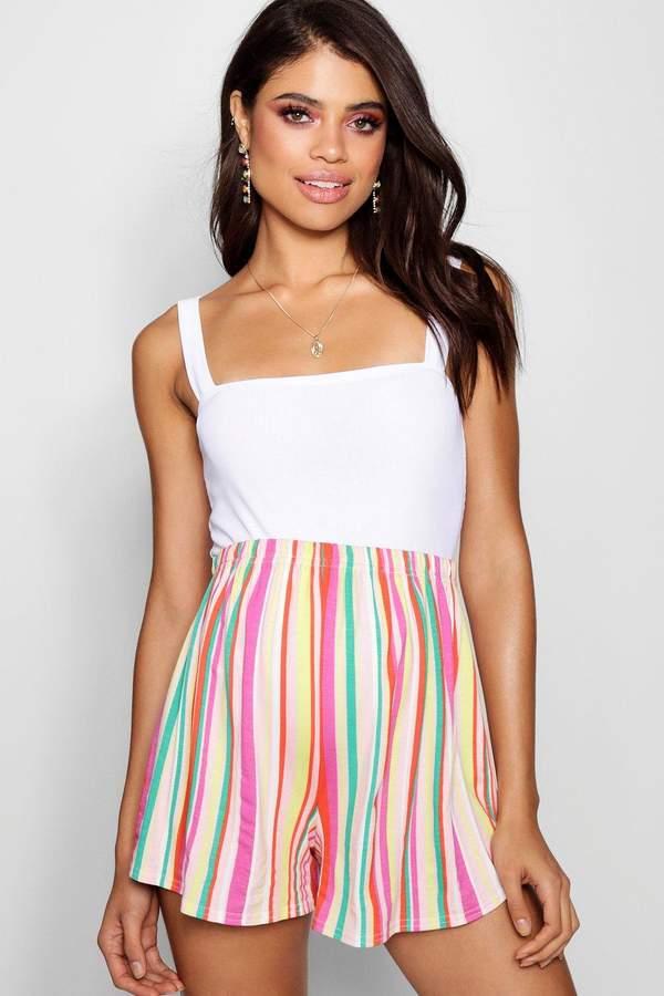 Maternity Stripe Flippy Short