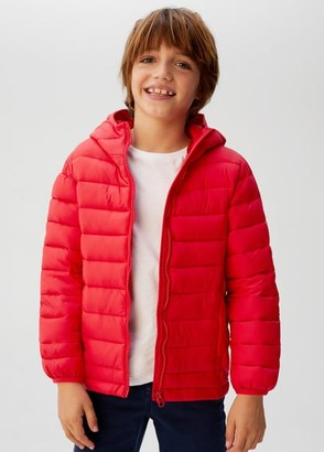 MANGO Water-repellent quilted coat red - 5 - Kids