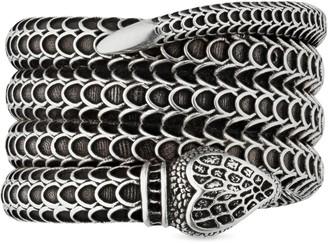 Gucci Garden silver snake wrap ring