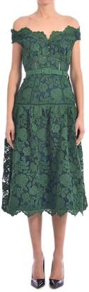 Self-Portrait Lace Dress Green
