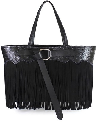 DSQUARED2 Black Fringed Tote Bag