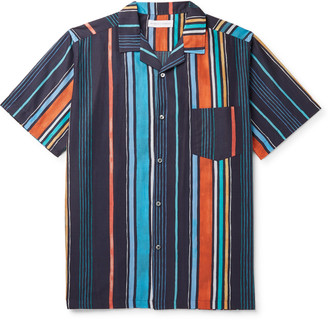 Desmond & Dempsey Striped Cotton Pyjama Shirt