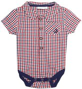 Jo-Jo JoJo Maman Bebe Gingham Bodysuit (Baby)-Navy-3-6 Months