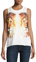Chaser Reflected Lions-Graphic Tank, White
