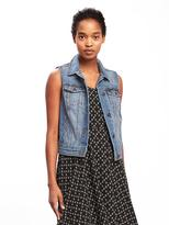 Old Navy Denim Trucker Vest for Women