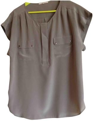 Gerard Darel Khaki Silk Top for Women