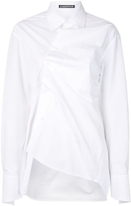 aganovich Twist Front Longline Shirt