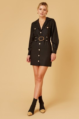 Finders Keepers BAMBI LONG SLEEVE DRESS Black