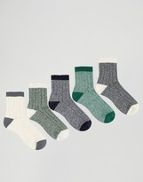 Asos Ankle Length Boot Socks 5 Pack