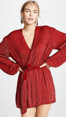 retrofete Gabrielle Sequined Robe Dress