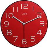 Leni Classic Wall Clock, Red, 30cm