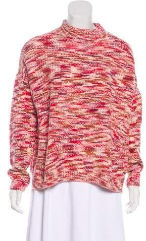 Velvet Wool Turtleneck Sweater