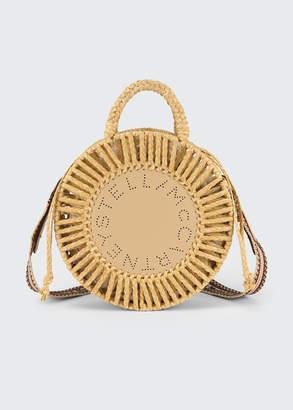 Stella McCartney Round Woven Raffia Shoulder Bag