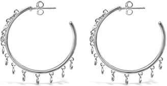 Bellus Domina Sterling Silver Dangle Hoop Earrings