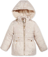 Osh Kosh Star-Print Puffer Jacket with Faux-Fur, Toddler Girls (2T-4T)