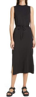 Vince Tie Waist T-Shirt Midi Dress