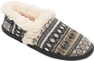 Minnetonka Women's Dina A Line Tan Knit Slippers
