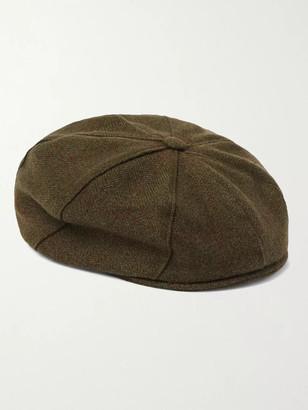 JAMES PURDEY & SONS York Bakerboy Herringbone Cashmere And Wool-Blend Tweed Flat Cap