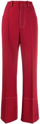 Marni high-waist wide-leg trousers