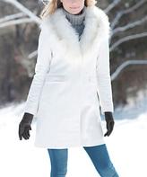 White Faux Fur Stroller Coat - Plus Too