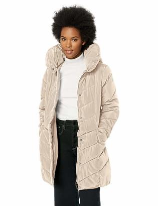 Steve Madden Women's Chevron Quilted Puffer Jacket