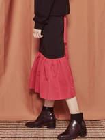 Blank Color Long Skirt-Rd