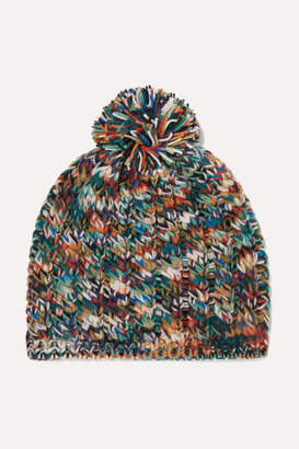 Missoni Pompom-embellished Wool-blend Beanie - Navy