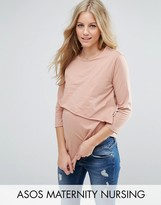 ASOS Maternity - Nursing ASOS Maternity NURSING Asymmetric Top with Double Layer