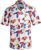 APTRO Men's Hawaiian Shirt Short Sleeve Summer Casual Shirt XL
