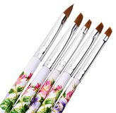 Makeup Brushes,OVERMAL 5pcs UV Gel Acrylic Nail Art Brush Painting Pen Set Nail Design Manicure Tool